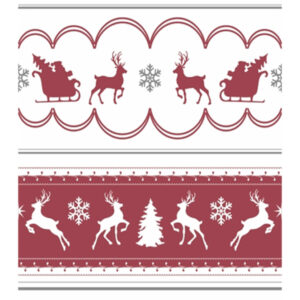 Red and White Reindeer and Sleigh