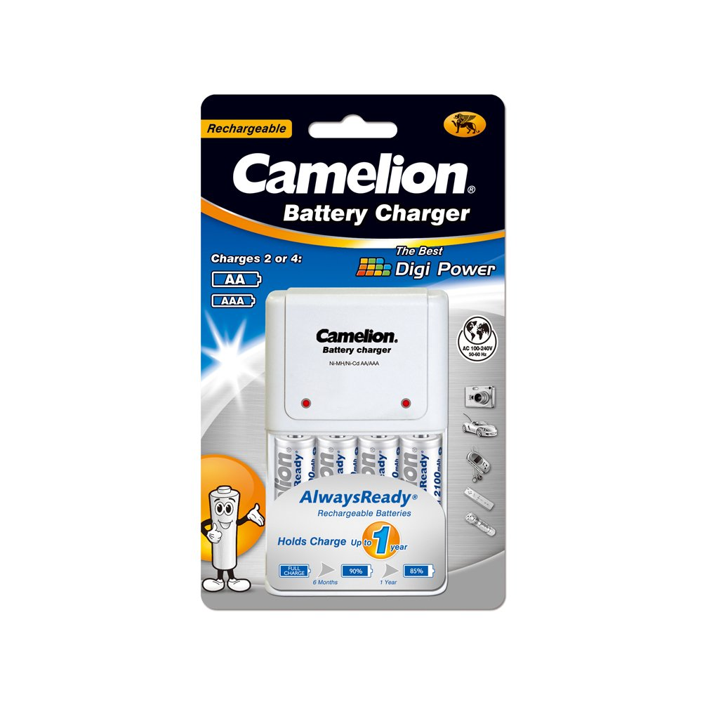 BC-1010B battery charger, TUV plug,White, double blister-easy open
