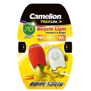 Camelion 2LED Silicon Bicycle Light 2CR2032 (batteries included), 2pc blister; 70h