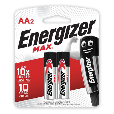 Energizer Max AA, 2-pc blister
