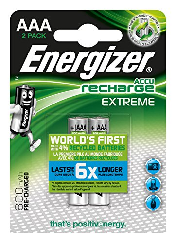 Energizer Extreme AAA 800mAh precharged, 2-pack blister